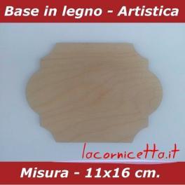 Basi artistiche etichette varie misure in legno per arti creative fai da te
