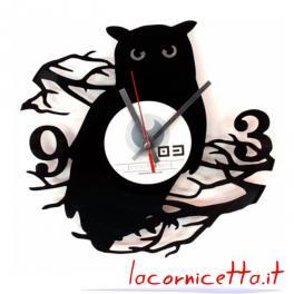 Gufo orologio parete disco in vinile top art design arredamenti