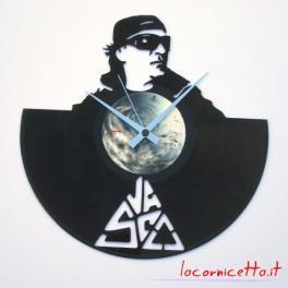 Vasco Rossi orologio da parete clock arredamento disco in vinile 33 giri
