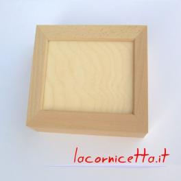 Scatole portafoto in legno naturale arti creative porta foto molteplici misure