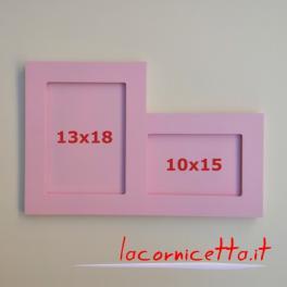 Portafoto doppi da tavolo in legno verticale 13x18 orizzontale 10x15