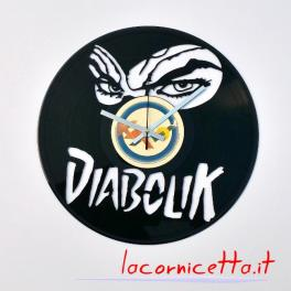 Diabolik personaggio dei fumetti disco orologio Clock Vinyl