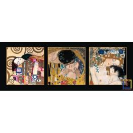 Trittico fondo nero – Klimt K38 Mis 56x142 cm