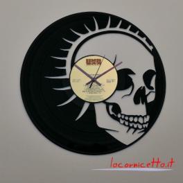 Teschio 1 vinile 33 giri. orologio disco da parete clock top