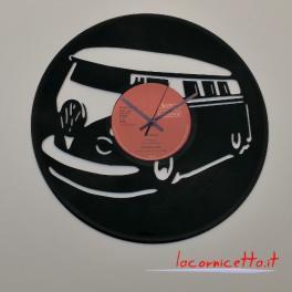Wolkswagen furgone disco orologio quarzo su vinile 33 giri Clock Vinyl