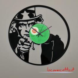 Zio Sam disco orologio in vinile prodotto Clock Vinyl da parete design