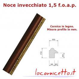 Noce invecchiato 1,5 f.o.a.p  taglio cornice legno misure standard o personalizzate