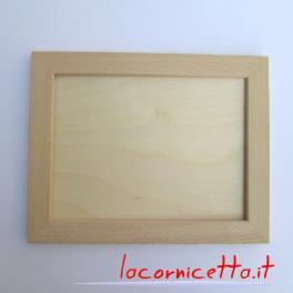 Cornici in legno faggio naturale grezzo sagoma piatta cornice 2,5 cm