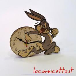 Bugs Bunny orologio cameretta bimbi parete tavolo