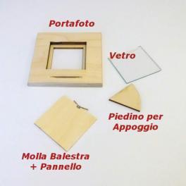 Portafoto quadrati in vero legno faggio naturale grezzo cornice quadra
