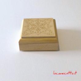 Cofanetti in legno faggio decorati tecnica artistica incisione con pirografo