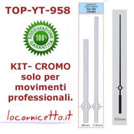 Lancette per orologi colore CROMATO satinato per movimenti top YT-958 cromo