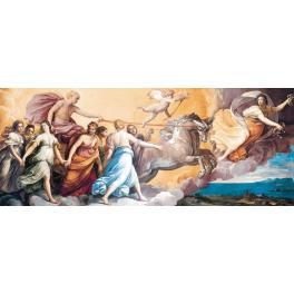 Opera realizzata su tela riproduzione a mano L'Aurora di Guido Reni