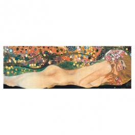 Bisce d'acqua riproduzione artigianale tela - Gustav Klimt