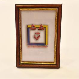 Portafoto da tavolo intelaiatura cornice in legno noce arte