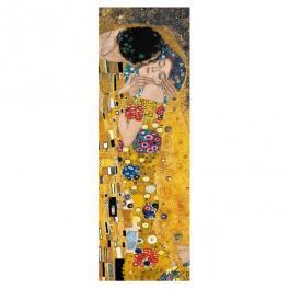 Gustav Klimt opera Il Bacio particolare verticale riproduzione