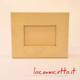 Portafoto rettangolare porta foto in legno naturale grezzo completo di tutto