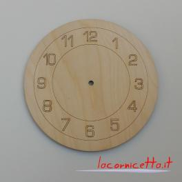Quadrante base orologio da parete di forma tonda in legno numeri Arabi