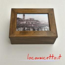 Ascoli Piceno artigianato tipico noce antico portafoto scatola colle Annunziata