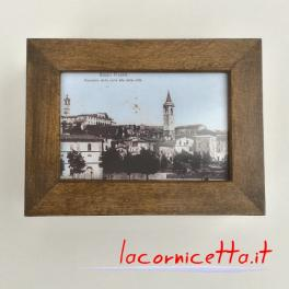 Ascoli Piceno foto retrò panoramica scatola portafoto idea regalo