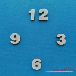 Numeri arabi kit cifre 2x2 cm numero arabo per ora orologio