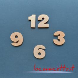 kit Numeri per arti creative cifra 3,5x4 cm numero di legno