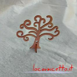 Alberi h-12 cm in legno colorati e personalizzabili per ogni