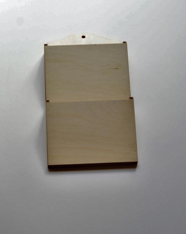 Porta posta da parete 18x35 cm h 5,5 cm 2 tasche portaposta