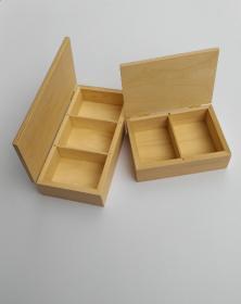 Scatole portacarte due o tre mazzi in legno naturale grezzo arti creative vetrina