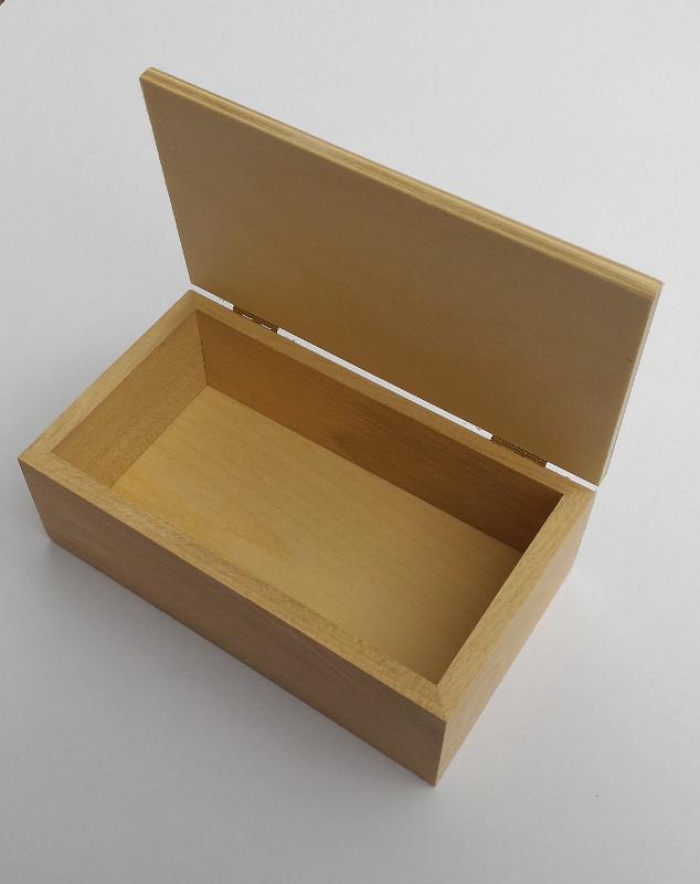 Scatole in legno 25x14 stock 3 pezzi scatoline vero legno faggio