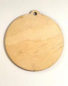 Ciondoli in legno con foro formato rotondo diametro 12 Cm