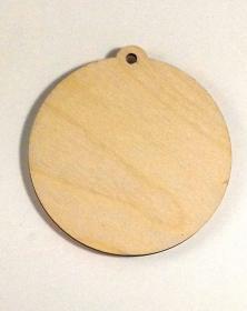 Ciondoli in legno con foro formato rotondo diametro 10 Cm