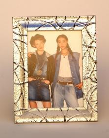 Portafoto in legno abete finitura porta foto argento - Laboratorio lacornicetta.it