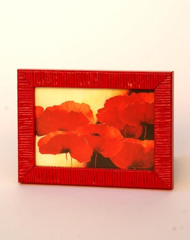Portafoto 10x15 in offerta online cornice rosso laccato, Studio lacornicetta.it