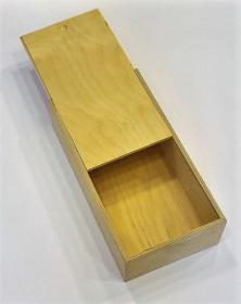 Scatola 32x18 cm Portabottiglie chiusura con pannello scorrevole