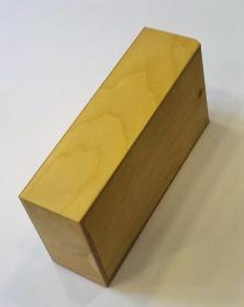 Portabottiglie due pezzi in legno naturale grezzo con coperchio scorrevole
