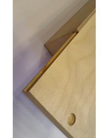 Scatola 32x18 h 10 cm Portabottiglie chiusura con pannello scorrevole