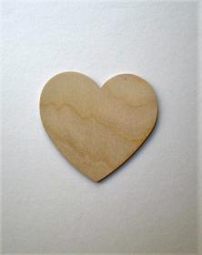 Base Cuore in legno naturale grezzo per arti creative. la cornicetta