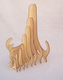 Espositore in legno solido e robusto molteplici vetrina 1. Studio la Cornicetta