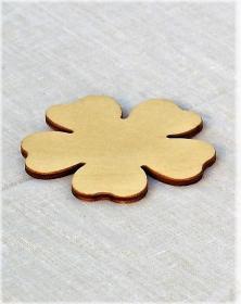 Accessorio in legno fiore 5 petali. Laboratorio la cornicetta.