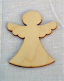 Base Angelo 12 cm sagoma in legno per decoro addobbo