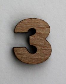 Numeri piccoli 2x2 Cm in legno per arti creative hobby decoro addobbo