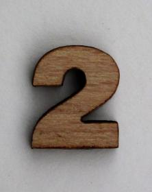 Numeri piccoli per arti creative hobby decoro in legno naturale grezzo 2x2 cm