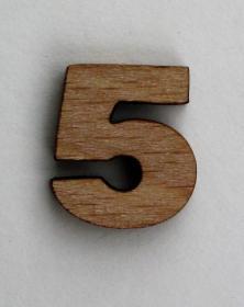 Numeri piccoli 2x2 Cm in legno per arti creative hobby decoro addobbo. Laboratorio Artigianale lacornicetta.it