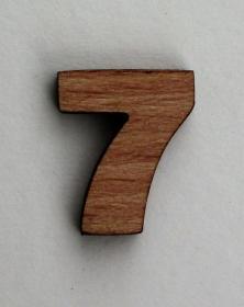 Numero piccolo 2x2 Cm in legno per arti creative hobby decoro addobbo. Laboratorio Artigianale lacornicetta.it