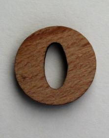 Numero piccolo 2x2 Cm cifra 0 in legno per arti creative hobby decoro addobbo. Laboratorio Artigianale lacornicetta.it