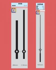 Lancette per orologi movimenti parete lunghe varietà colori top YT-958. Disegno lacornicetta.it