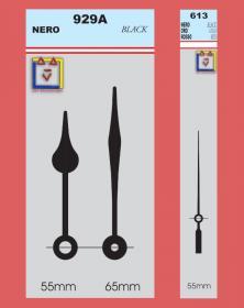 Lancette in stile goccia per movimenti orologi quarzo parete gamma top YT-929A. Disegno lacornicetta.it