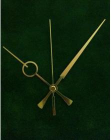 Lancette TY-F.11 alluminio colore oro per orologio da parete o tavolo