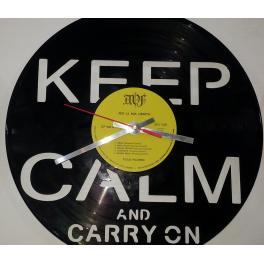 Keep Calm  Vinyl Watch  blù